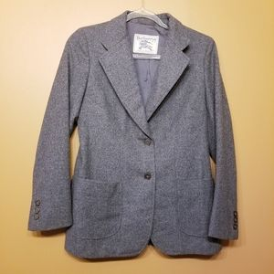 Burberry | Vintage Men's Gray 100% Wool Blazer